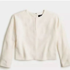 NWT J.CREW 365 Ivory Cropped Top in Crepe